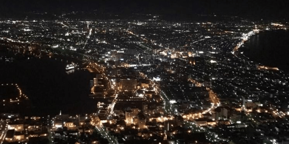 市街地の夜景