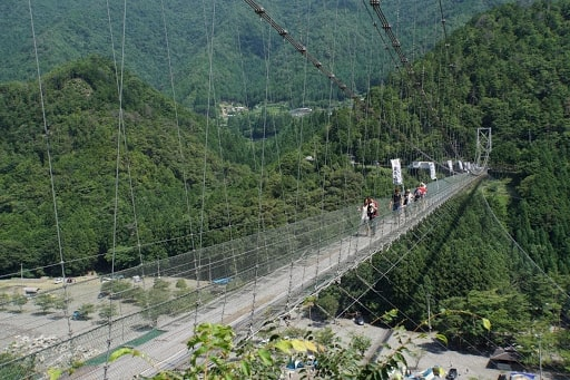 谷瀬の吊り橋